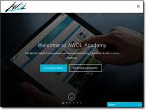AWOL Academy Website Screenshot