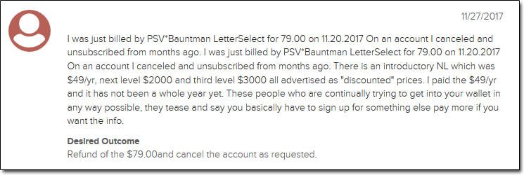 Banyan Hill Publishing Complaint 3