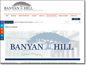 Banyan Hill Publishing Website Screenshot