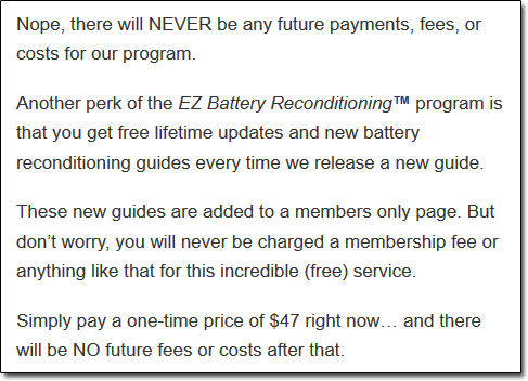 EZ Battery Reconditioning Course Costs