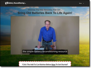 EZ Battery Reconditioning Course Website Screenshot