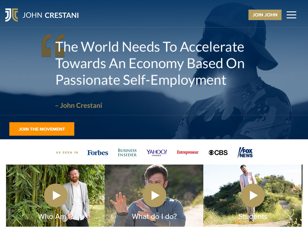 John Crestani Website Screenshot