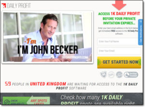 1K Daily Profit System Website Screenshot