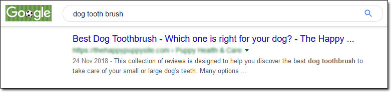 Dog Toothbrush Google Results