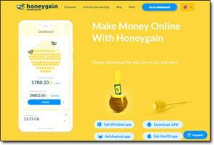 HoneyGain Website Screenshot