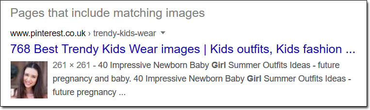 Reverse Image Search Matching Images